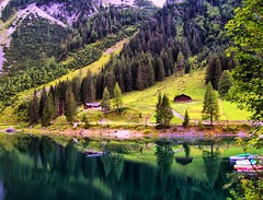 Country (Dalal Al-O ( KWT )) Tags: mountains reflection nature reflections austria unique country mother hdr  dalal