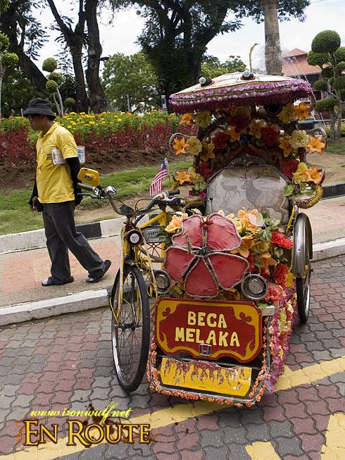 Malacca Adorned Rickshaws