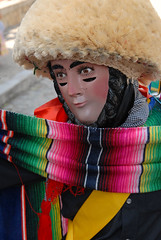 Sad Parachico Chiapas (Ilhuicamina) Tags: costumes mexicana mexico fiestas masks wigs mascara chiapas montera chiapadecorzo