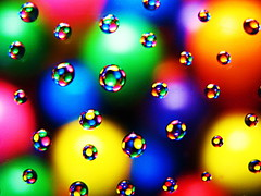 Gumball Worlds (PaPeR.cLiP) Tags: macro water canon gum droplets yummy shiny pretty candy sweet tasty sugar delicious droplet s2is candies waterdroplets bonbon gumball gumballs confection sucre zucker azcar zucchero powershots2is