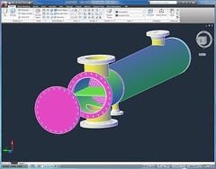 My NEU Heat Exchanger 3D Model in AutoCAD 2010