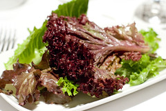 mixed greens with shallot vinaigrette