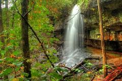 Lodge Falls (the waterfallhunter) Tags: autumn fall waterfall littleriver dekalbcounty fortpaynealabama loriwalden lodgefallsdesotostatepark lodgecreek