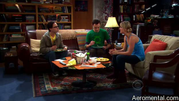 The Big Bang Theory S03E03 Penny desayuno