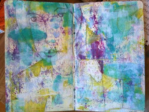 GUT ART journal page beginnings