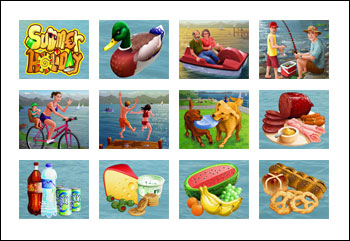 free Summer Holiday slot game symbols