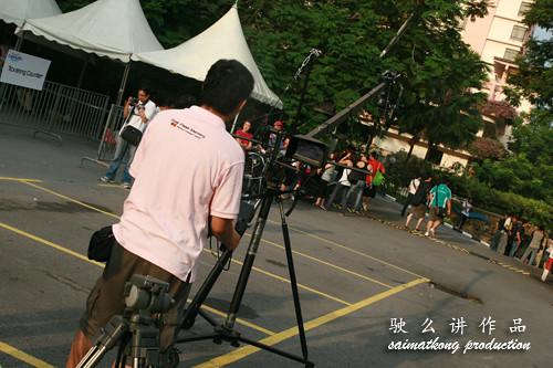 Live video shooting in progress