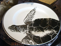 Sea turtle plate (by Anitza V)