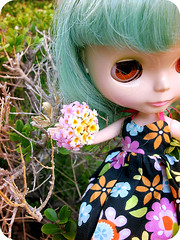 Eunice w/ bouquet