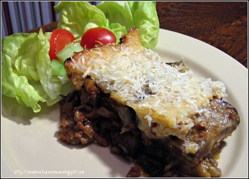 The Misadventures of Mub: Cat Cora's Moussaka: Eggplant Casserole