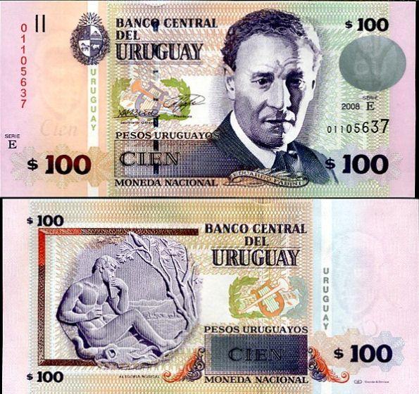 100 Pesos Uruguayos Uruguay 2008