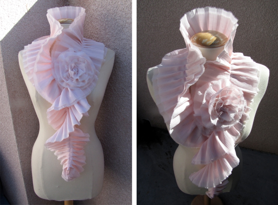 Love Maegan DIY Chanel ruffle scarf