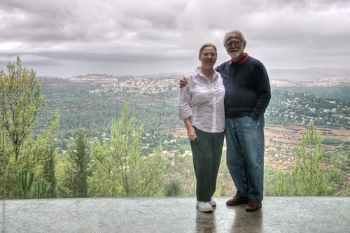 Marion & Dad at Yad Vashem
