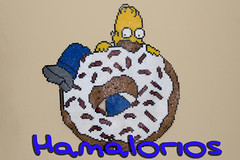 Homer Simpson y su rosquilla