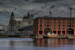 Albert Dock Liverpool (Steve J O'Brien) Tags: city england urban liverpool canon boat albertdock 50d explored