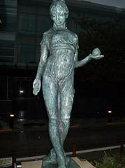 barefoot statue momo-chan (peach girl) at Tokyo Chidorigafuji Park