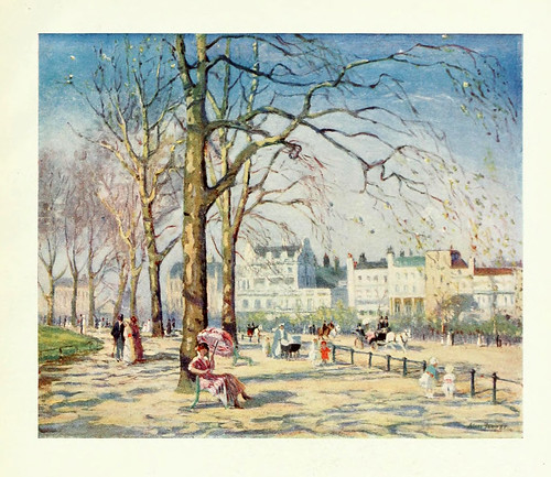 004-Pictures of London 1919-Primavera en Hyde Park pintado por Alice Fanner
