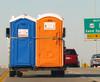 The Flying Porta-Potties (dart5150) Tags: road blue orange airport highway funny story tulsa portapotties flyingdowntheroad funniestthingiveseeninawhile