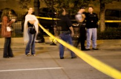 the scene of a triple shooting in Chicago (by: Seth Anderson, creative commons license)