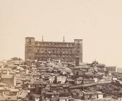 Alcázar de Toledo en 1857. Fotografía de Charles Clifford (detalle)