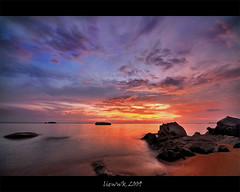 ... after short break ... (liewwk - www.liewwkphoto.com) Tags: ocean sunset sky seascape landscape high dynamic malaysia imaging melacca mapping range tone hdr melaka tg hdri tanjung exposures bidara liewwk