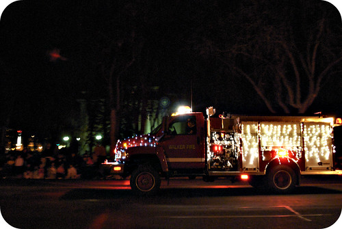 Light Parade, the only photo that turned out from the parade, oops!