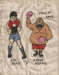 Punch-Out (gamerghoul13) Tags: crossstitch videogames nes punchout kinghippo littlemac
