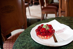 Strawberry tart at Cafe Gerbeaud in Budapest Hungary