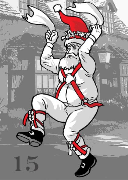 Morris-Dancing Santa