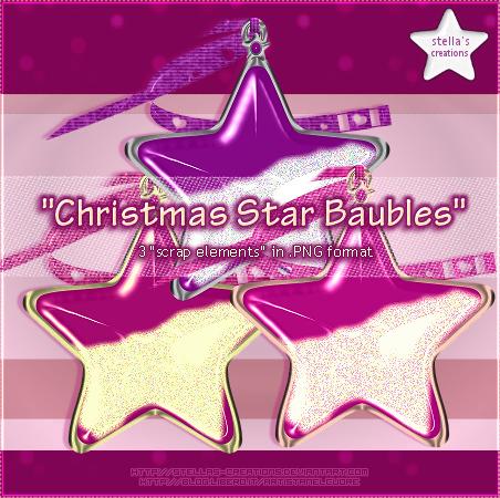 Christmas Star Baubles - © Blog Stella's Creations: http://sc-artistanelcuore.blogspot.com