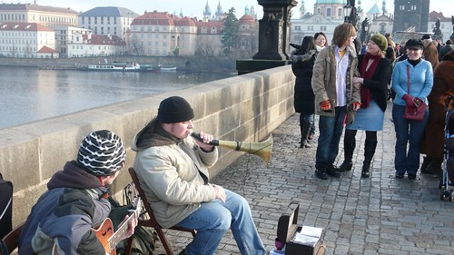 Blues musicians, Charles Bridge