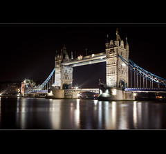 Tower Bridge at Night (Hadi Al-Sinan Photography) Tags: bridge urban london tower night rural canon photography shot mark best explore ii 5d 2009 hadi 2470mm at   alsinan