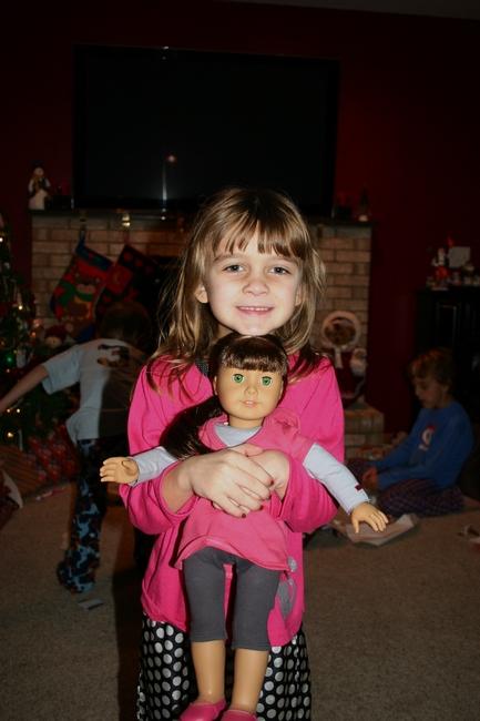Santa gave Karli an American Girl doll