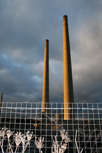 Chimneys at Northfleet Cement Works