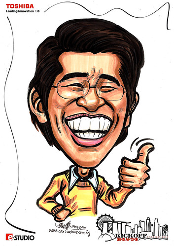 Caricatures for Toshiba - Kickoff Singapore - Paul