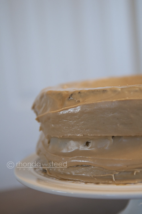 Chocolate cake with Butterscotch Icing