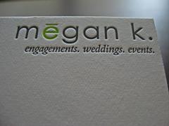 Megan K Events Letterpress Cards