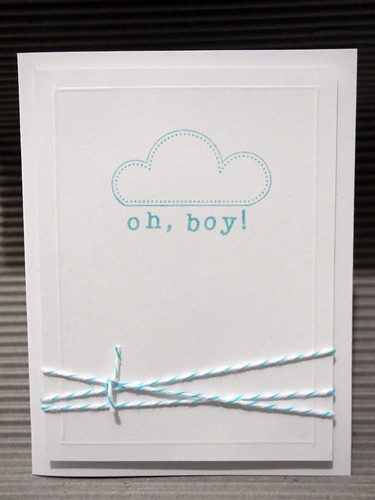 Oh, boy!  Baby Congratulations Card