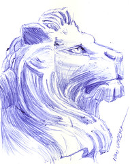 leon a lapicero (ivanutrera) Tags: draw dibujo drawing dibujoalapicero boligrafo animal sketch sketching wild wildlife lapicero leon lion felino minino pen ilustracion dibujoaboligrafo