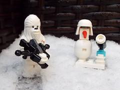 Snow Day (silverhead2009) Tags: snow snowtrooper chewbacca chewie white frozen macro winter lego