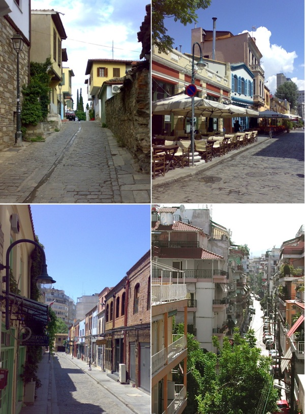 Streets in Thessaloniki