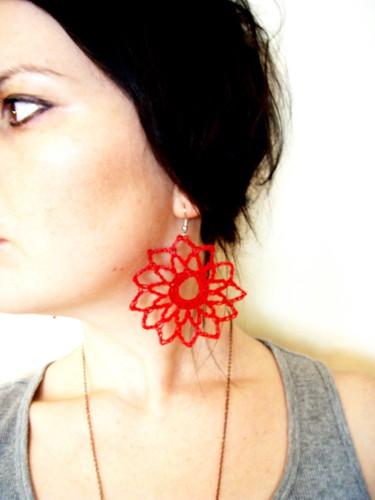 softspoken dahlia earrings