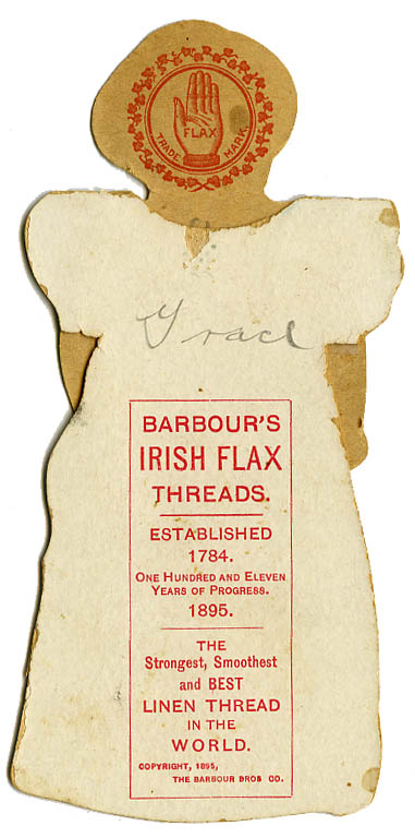 Barbours Irish Flax Thread_America paper doll back_tatteredandlost
