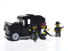 The Thompsons have arrived! (Mdrn~Mrvls) Tags: city up car town lego vehicle mafia hold ganster brickarms