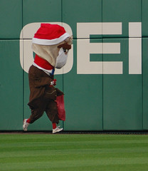 Washington Nationals racing president Teddy Roosevelt dresses as Santa for Christmas in July
