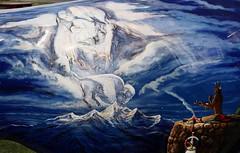 "Part of the ""Where the Painted Buffalo Roam"" exhibit, West Yellowstone, Montana (IMG_1676a) (Alaskan Dude) Tags: travel art buffalo montana wildlife westyellowstone paintedbuffalo wherethepaintedbuffaloroam"