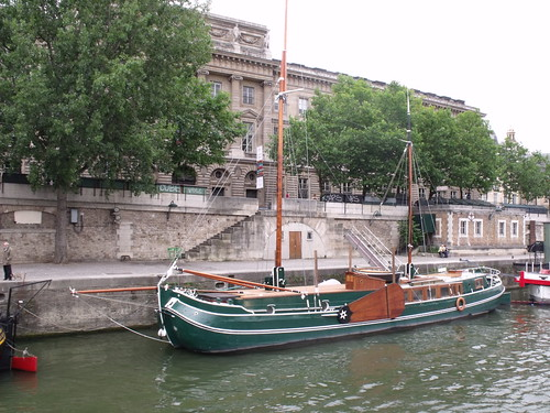"Boats on the Seine - Palais ""Monnaie de Paris"" - ship"