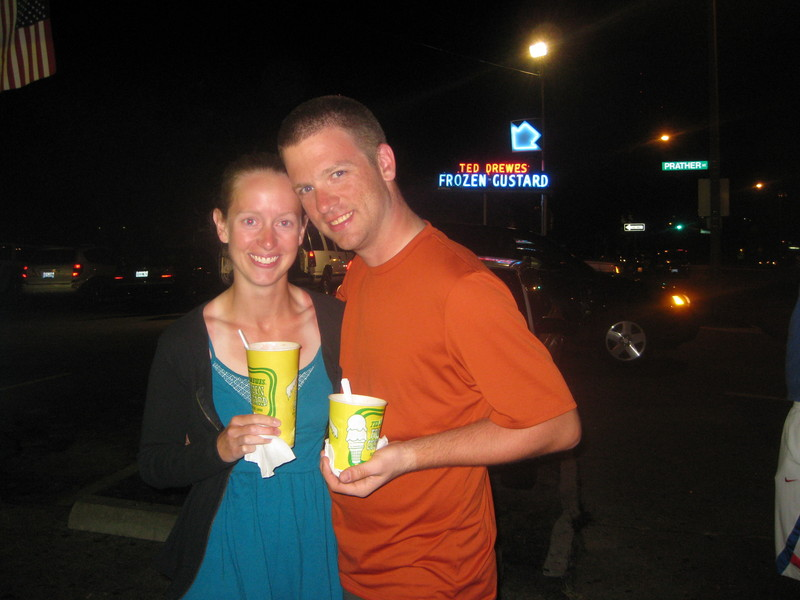 Enjoying Ted Drewes Custard