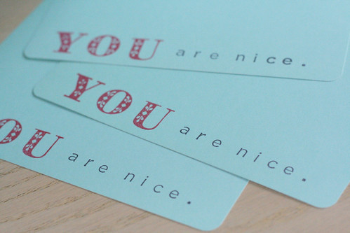 you are nice.