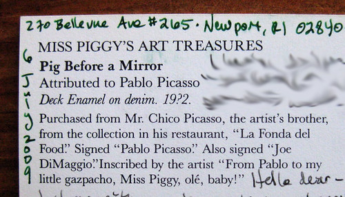 Miss Piggy's Art Treasures humor